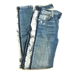 Striped 7 for all mankind Jeans: worn once!